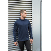 Herenrunningsweater met halsrits sporty navy xxl