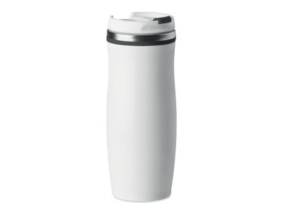 WHITE - 400 ml double wall SS mug