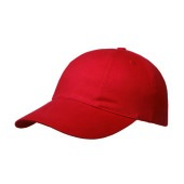 Brushed 6 Panel Cap, Turned Top Rood
