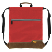 Drawstring Backpack BO red