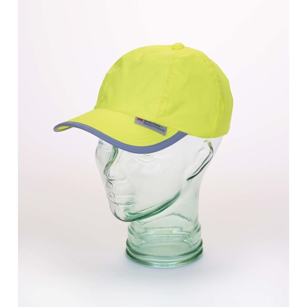 Baseball cap with reflective hem