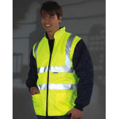 Hi-Vis Quilted Jacket with Zip-Off Sleeves