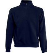 Premium zip neck sweat (62-032-0) deep navy s