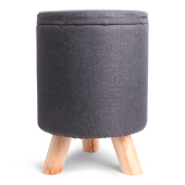 SENZA Storage Decoration Pouffe Dark Grey