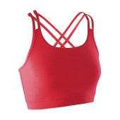 Fitness Women's Crop Top - Hot Coral