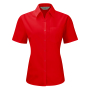 Ladies S/S PolyCotton Poplin shirt, Classic Red, S, RUS
