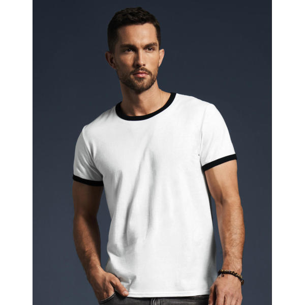 Adult Fashion Basic Ringer Tee