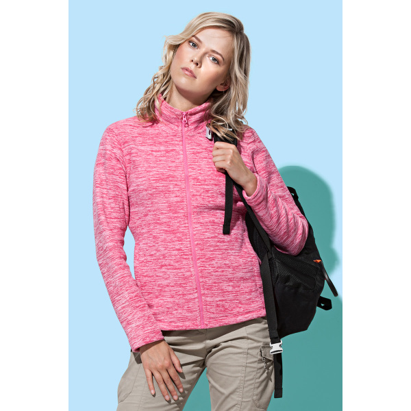Stedman Melange Fleece Cardigan Active for her