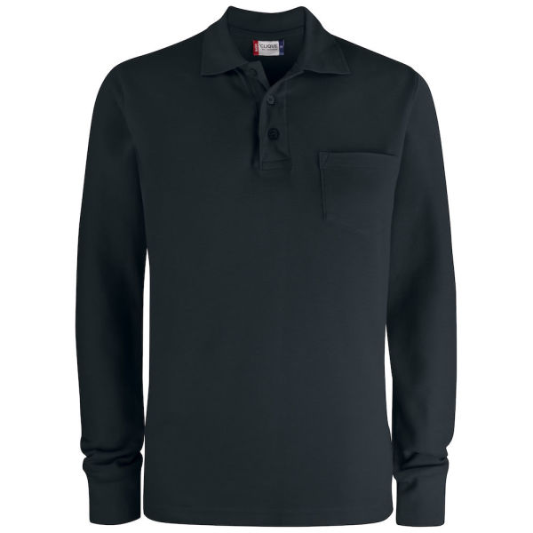 Clique Basic Polo LS Pocket Pique