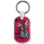 Acrylic Dog Tags with Key Chains (Logo by CMYK UV printed)