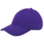 Brushed Twill Cap Paars acc. Paars