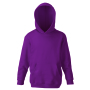 Kids Classic Hooded Sweat, Burgundy, 14-15jr, FOL