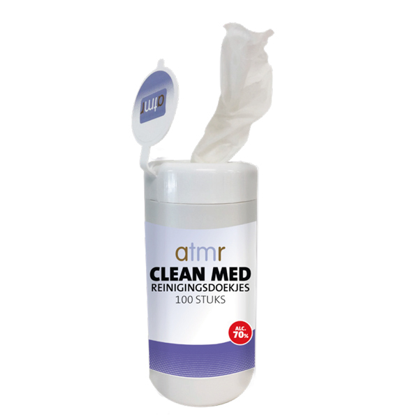 AtmR CLEAN MED A.89 Whipes 70% alc. (100 stuks wipes)