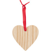 Wooden Christmas ornament Heart