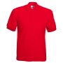 65/35 Pique Polo, Red, XL, FOL