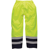 High visibility two tone waterproof trousers