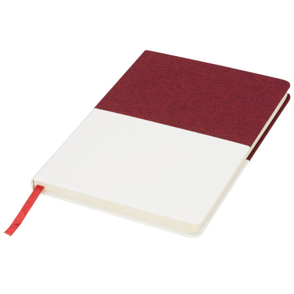 Two-tone A5 canvas notebook