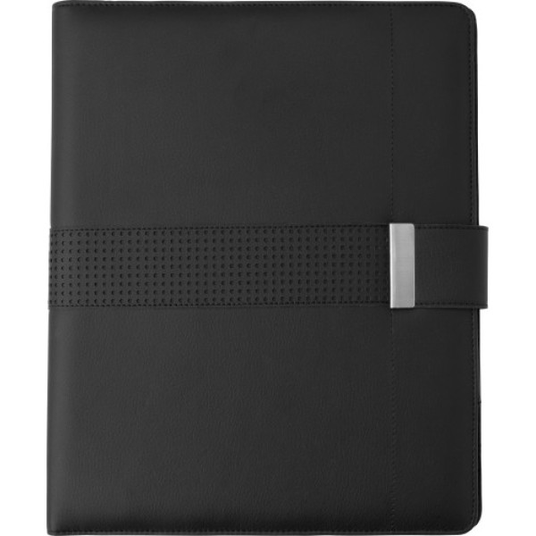 A4 PU Folder with power bank and tablet holder
