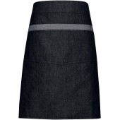 Domain - contrast denim waist apron black denim 'one size