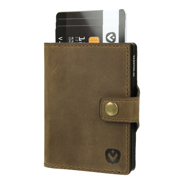Valenta Card Case Wallet Black Brown