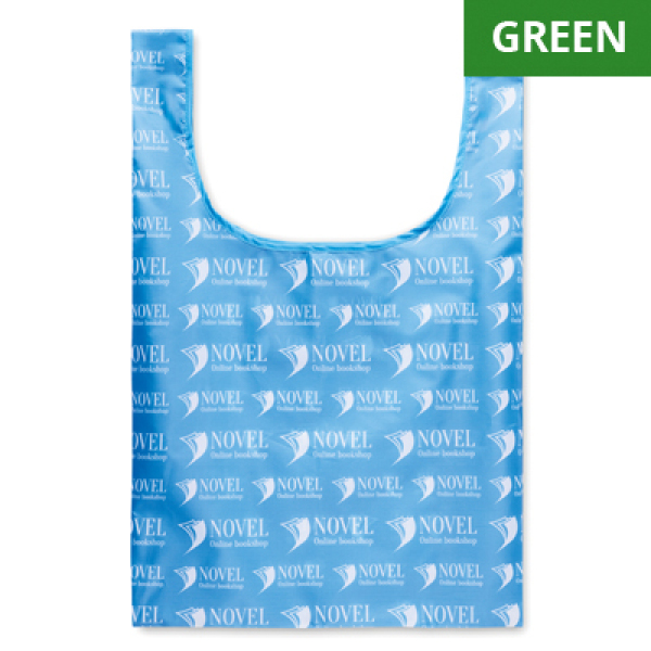 Foldable RPET vest shopping bag with inside pocket