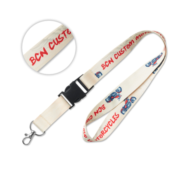sublimation lanyard with buckle. 8 days delivery*