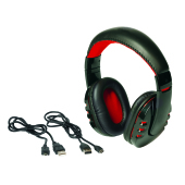 Bluetooth headphones RACER, black/red