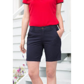Ladies' stretch chino shorts