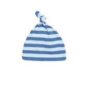 Baby Striped One-Knot Hat