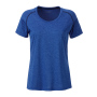 Ladies' Sports T-Shirt blauw-melange/navy