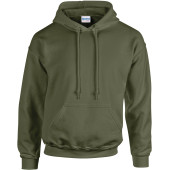 Heavy blend™ classic fit adult hooded sweatshirt military green s