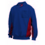 Polosweater Bicolor Borstzak 302001 Navy-Red M