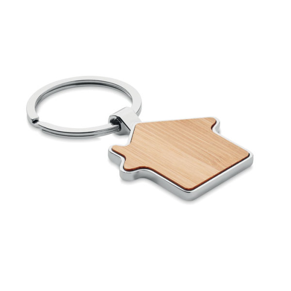 BURNIE - House key ring metal bamboo