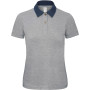Dnm forward / women polo shirt denim / heather grey xs
