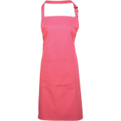 Colours bib apron with pocket fuchsia one size