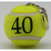 Neutral Yellow Mini Tennisball Keyring