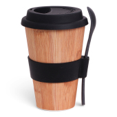 SENZA Bamboo Cup with Spoon Anthracite