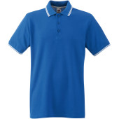 Premium tipped polo shirt (63-032-0) royal blue / white 3xl