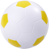 Football anti-stress bal - Geel/Wit