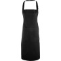 Fairtrade apron with pocket black one size