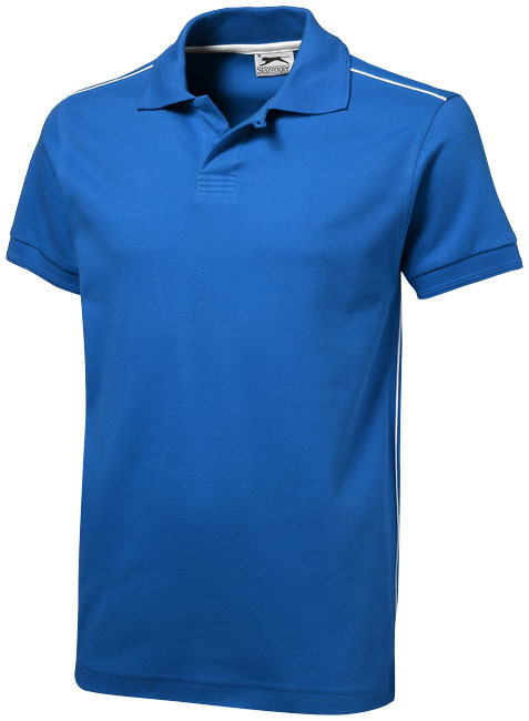 Backhand polo met korte mouwen - Sky blue,Wit - XXXL