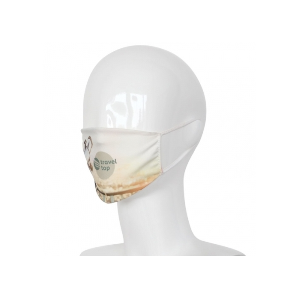 Herbuikbaar gezichtsmasker sublimatie all-over Made in Europe