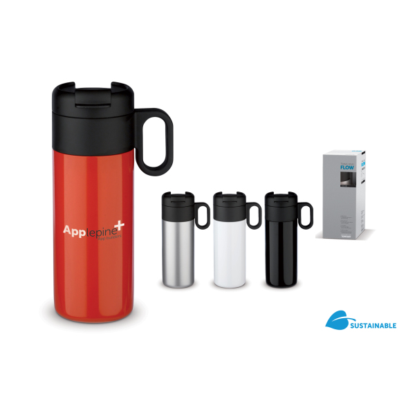 Bedrukte Thermobeker Flow met logo 400ml