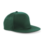 5 Panel Snapback Rapper Cap - Bottle Green