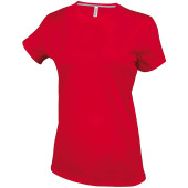 Dames t-shirt ronde hals korte mouwen red 3xl