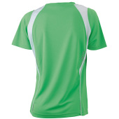 Ladies' Running-T - lime/wit