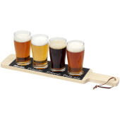 Cheers beverage flight serving tray