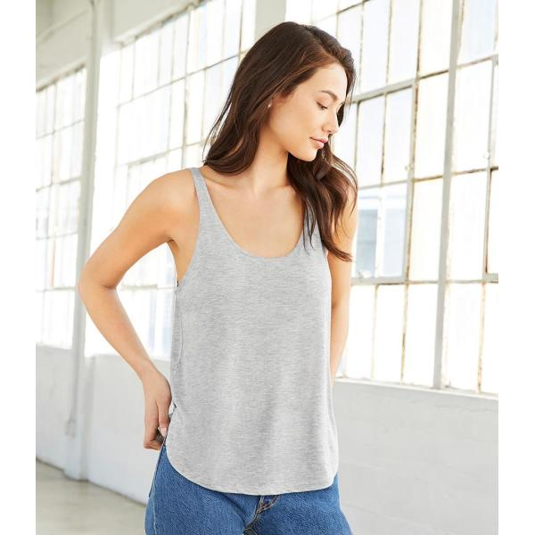 Bella Ladies Flowy Side Slit Tank Top