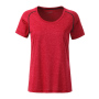 Ladies' Sports T-Shirt rood-melange/titan