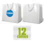 Glanzende coated shopping bag wit